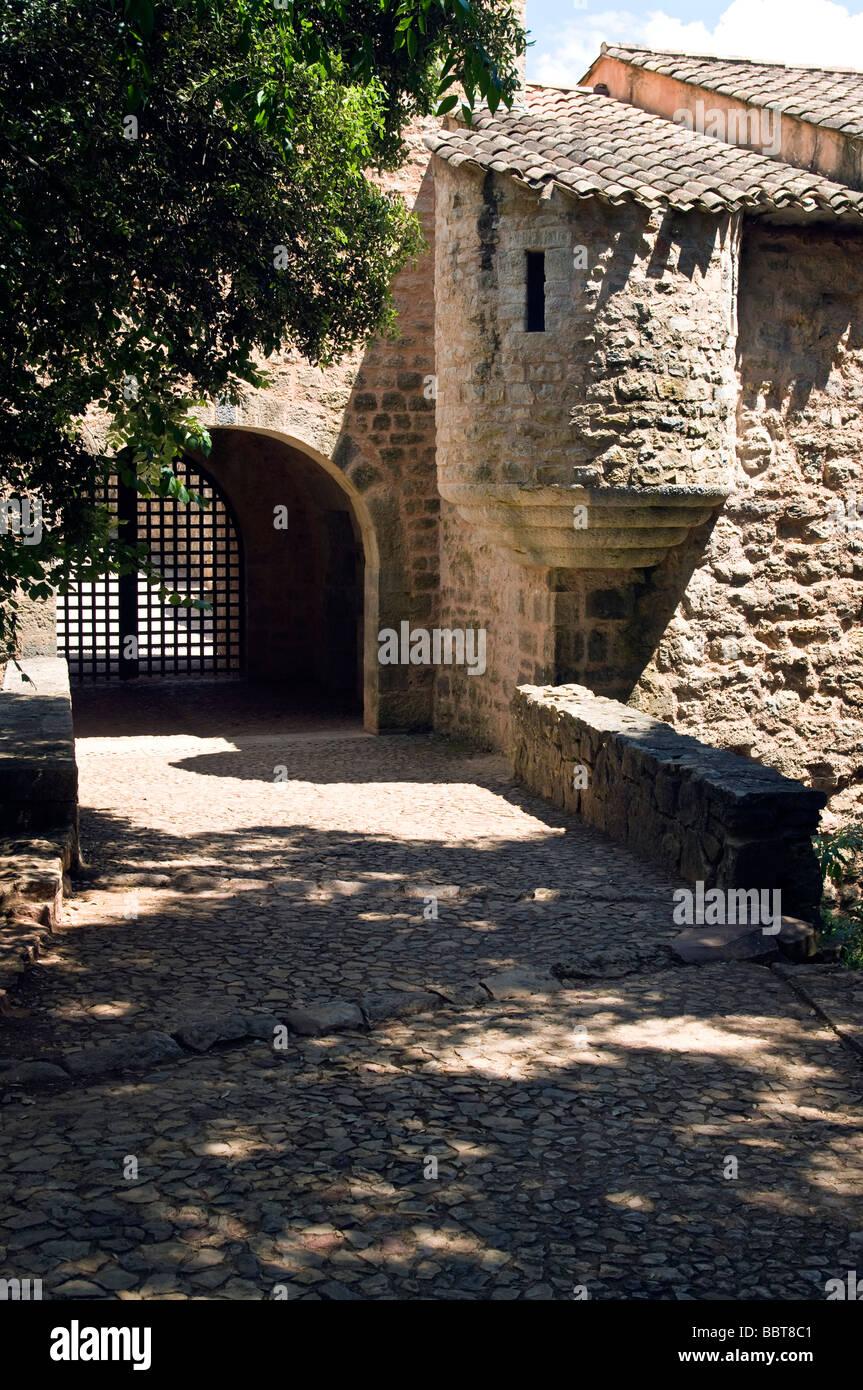 Entrance of Abbaye duThoronet - Stock Image