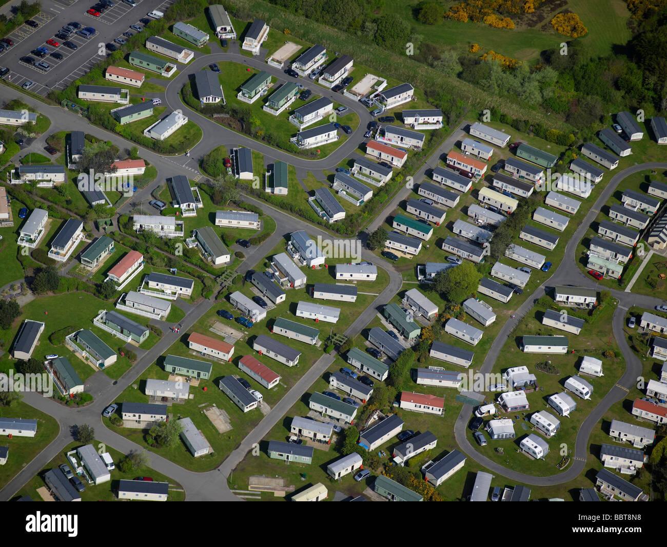 Holiday Park, Porthmadoc, North Wales, UK - Stock Image