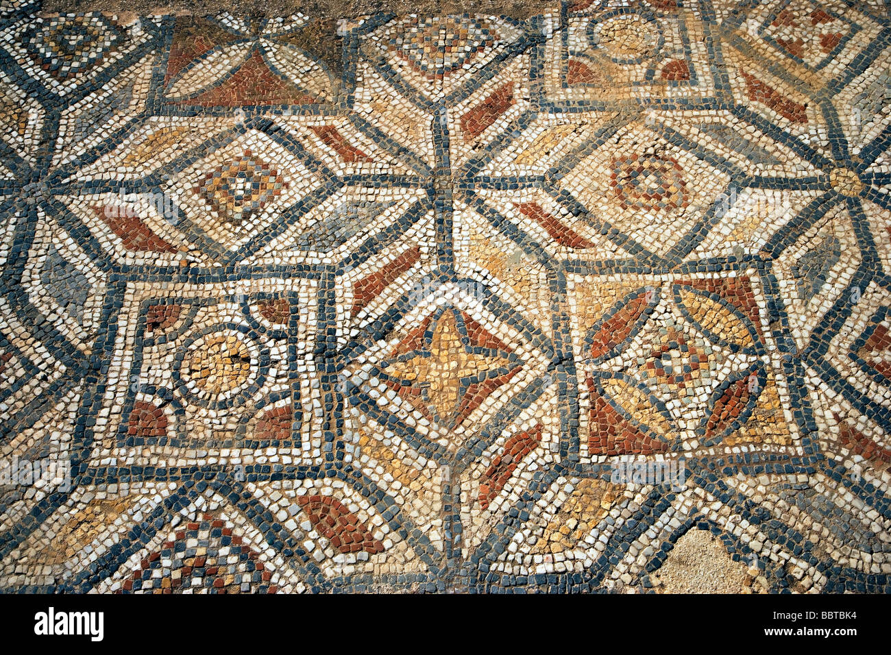 Roman Mosaic Tile Floor Ephesus Kusadasi Turkey Europe Stock