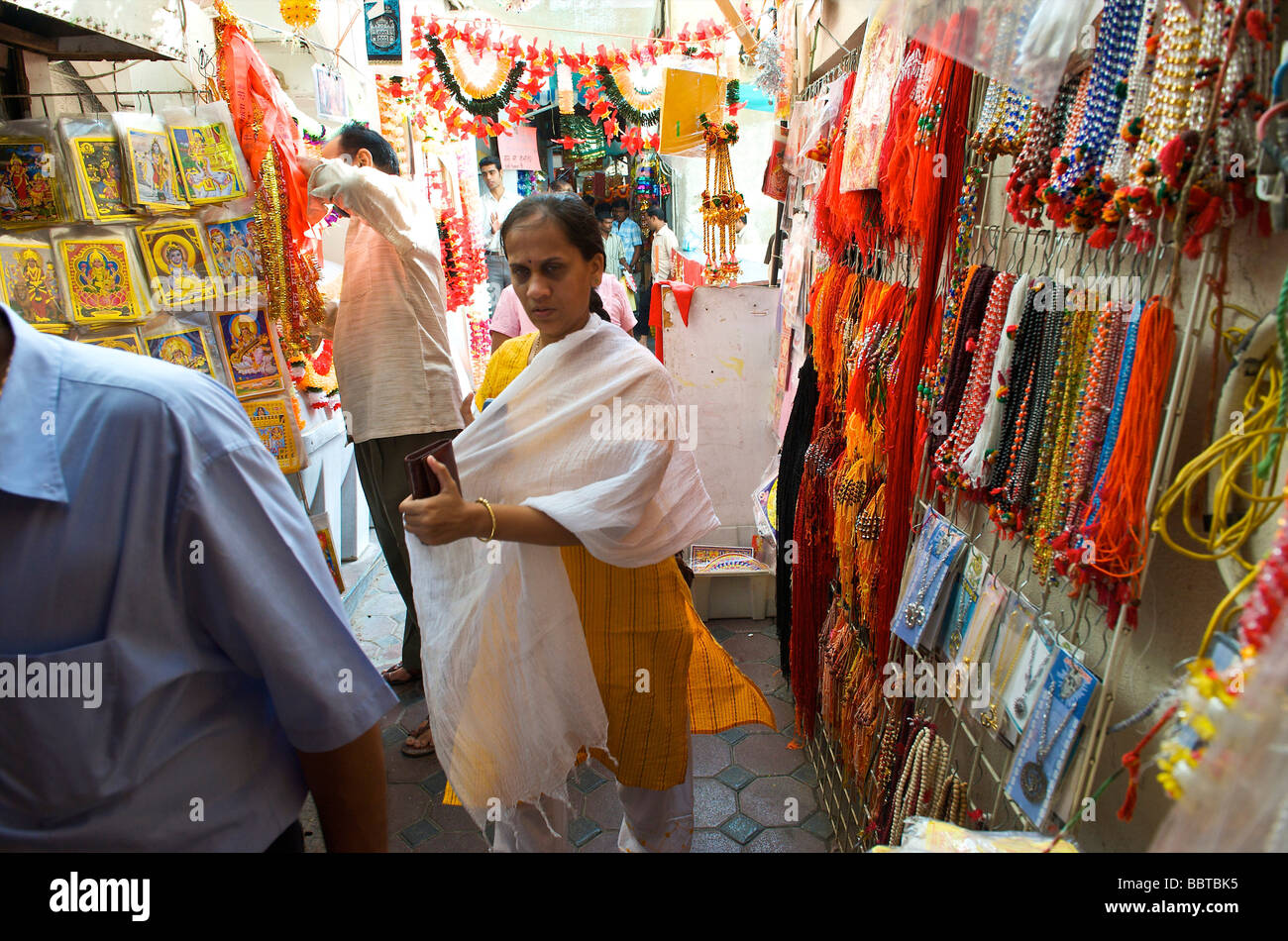 Dubai an Indian shop in the old Arab town Stock Photo