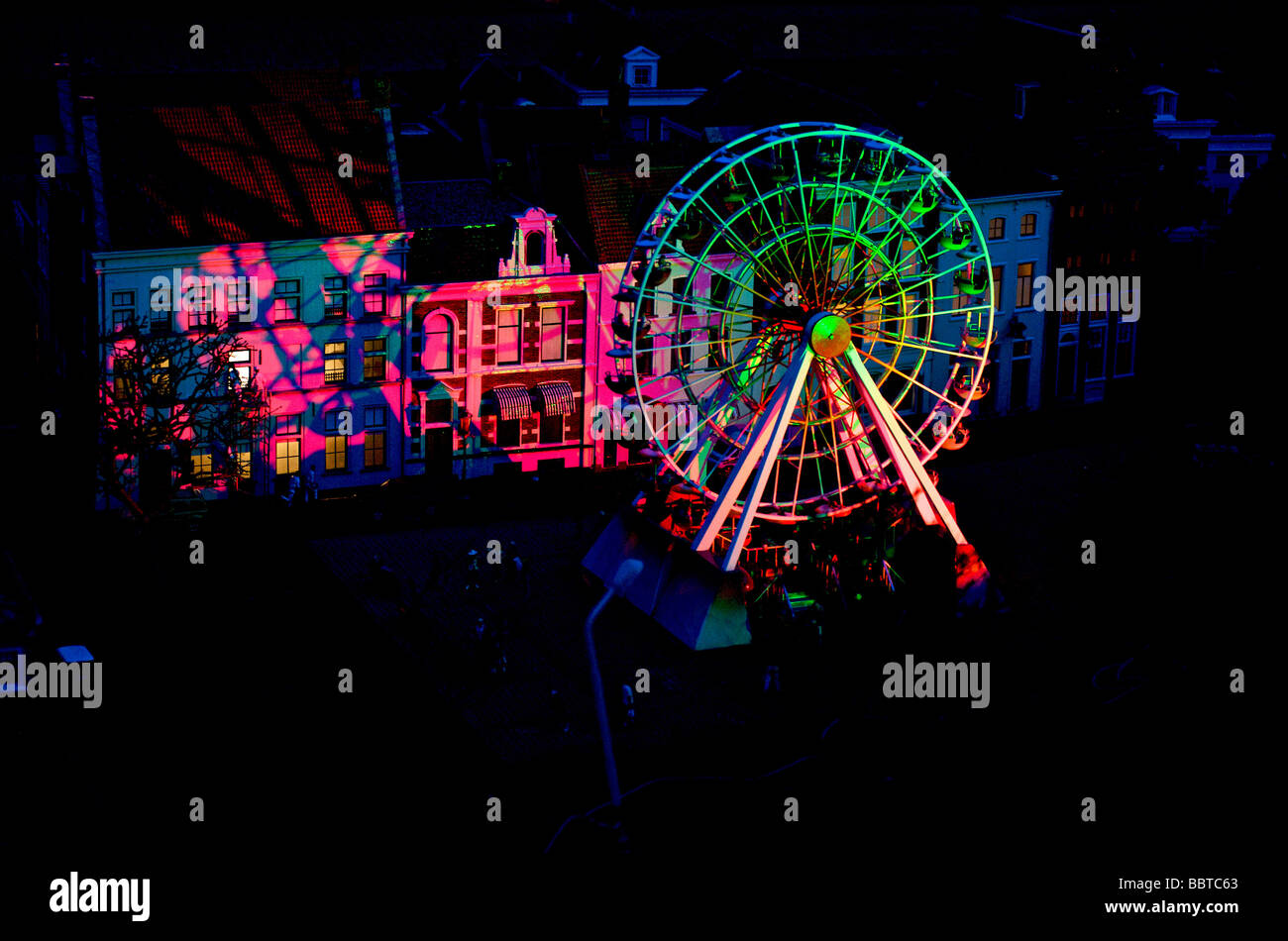 Fairground as replicated in Madurodam - Stock Image