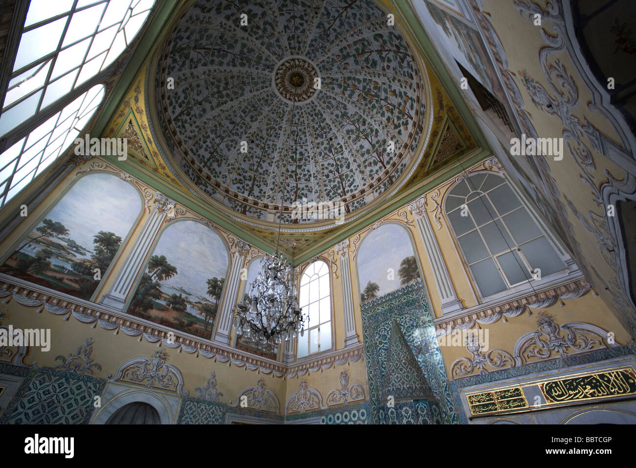 Reception Hall of Dowager Sultan, Topkapi Palace, Istanbul, turkey, Europe