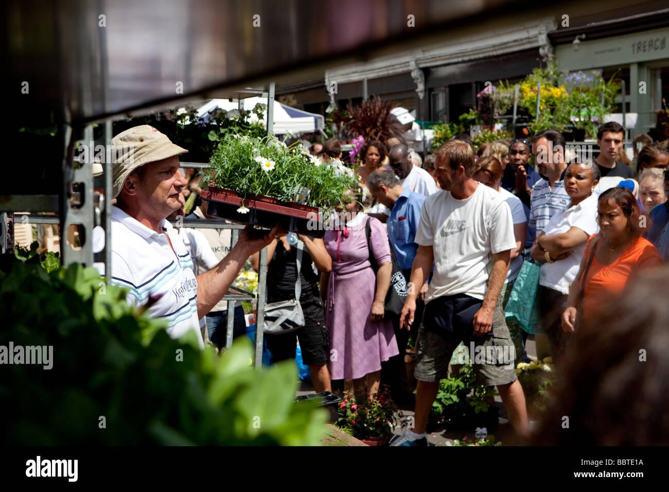 Columbia Road Flower Market, London - Stock Image