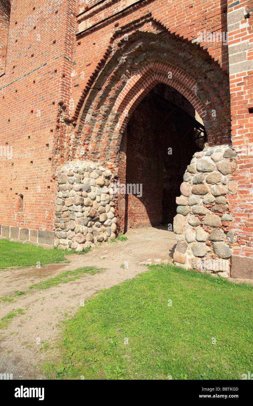 Ruins of the old Saints Peter and Paul cathedral on Toome Hill in Tartu,Toomkirik, Estonia,Baltic Nation,Photo by - Stock Image