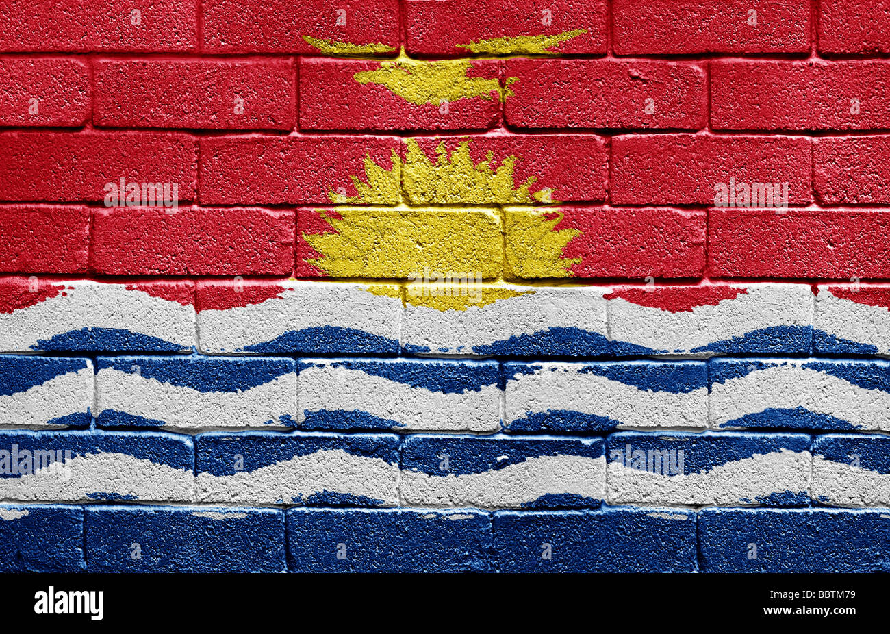 Flag of Kiribati Stock Photo