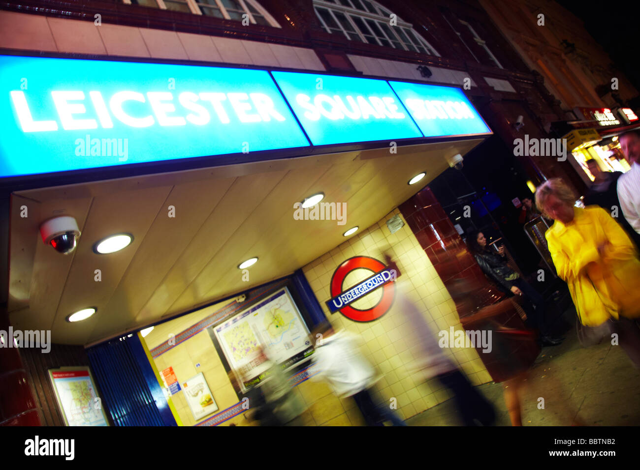 Leicester Square underground station - Stock Image