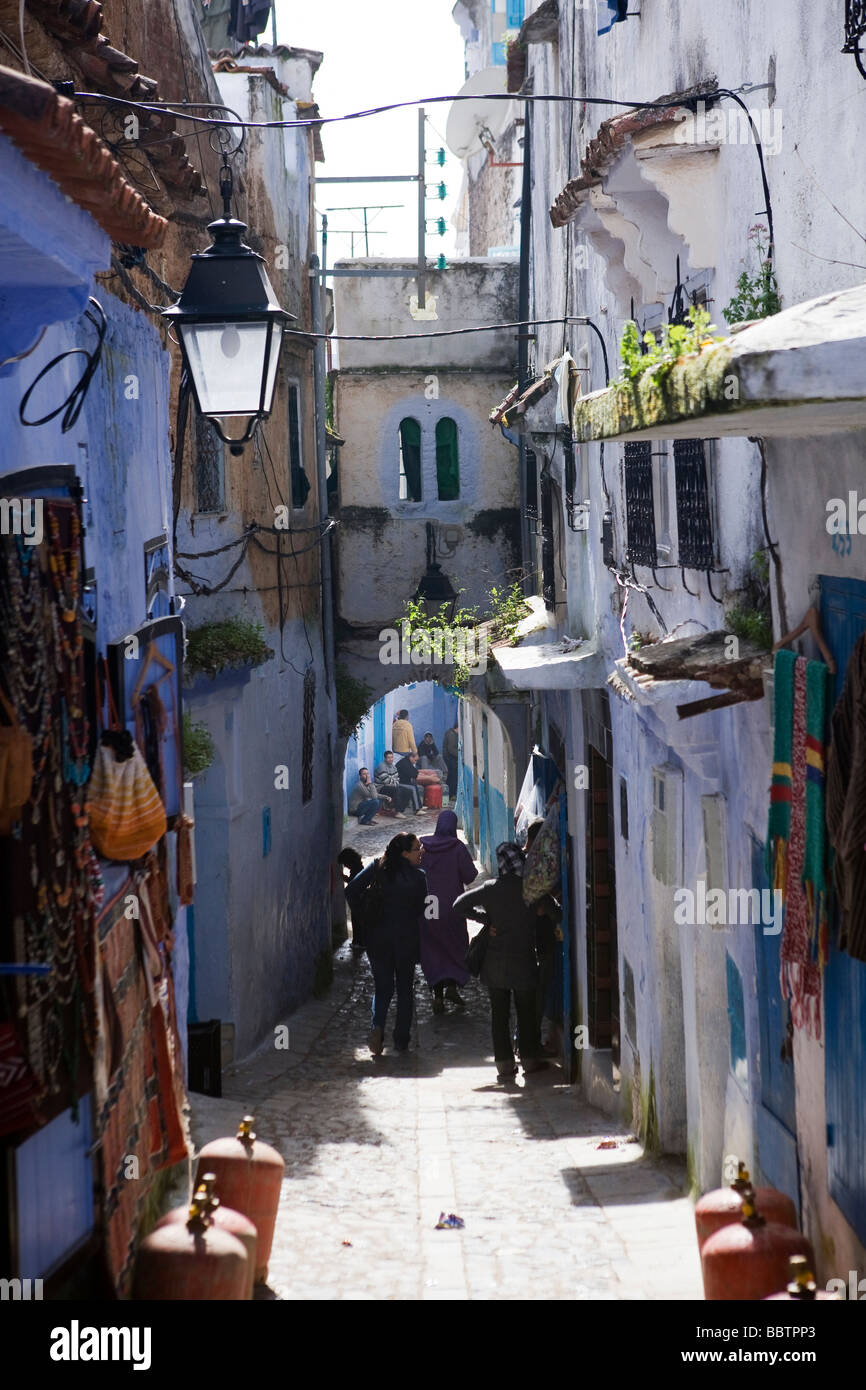 Chefchaouen Medina, Morocco, North Africa - Stock Image
