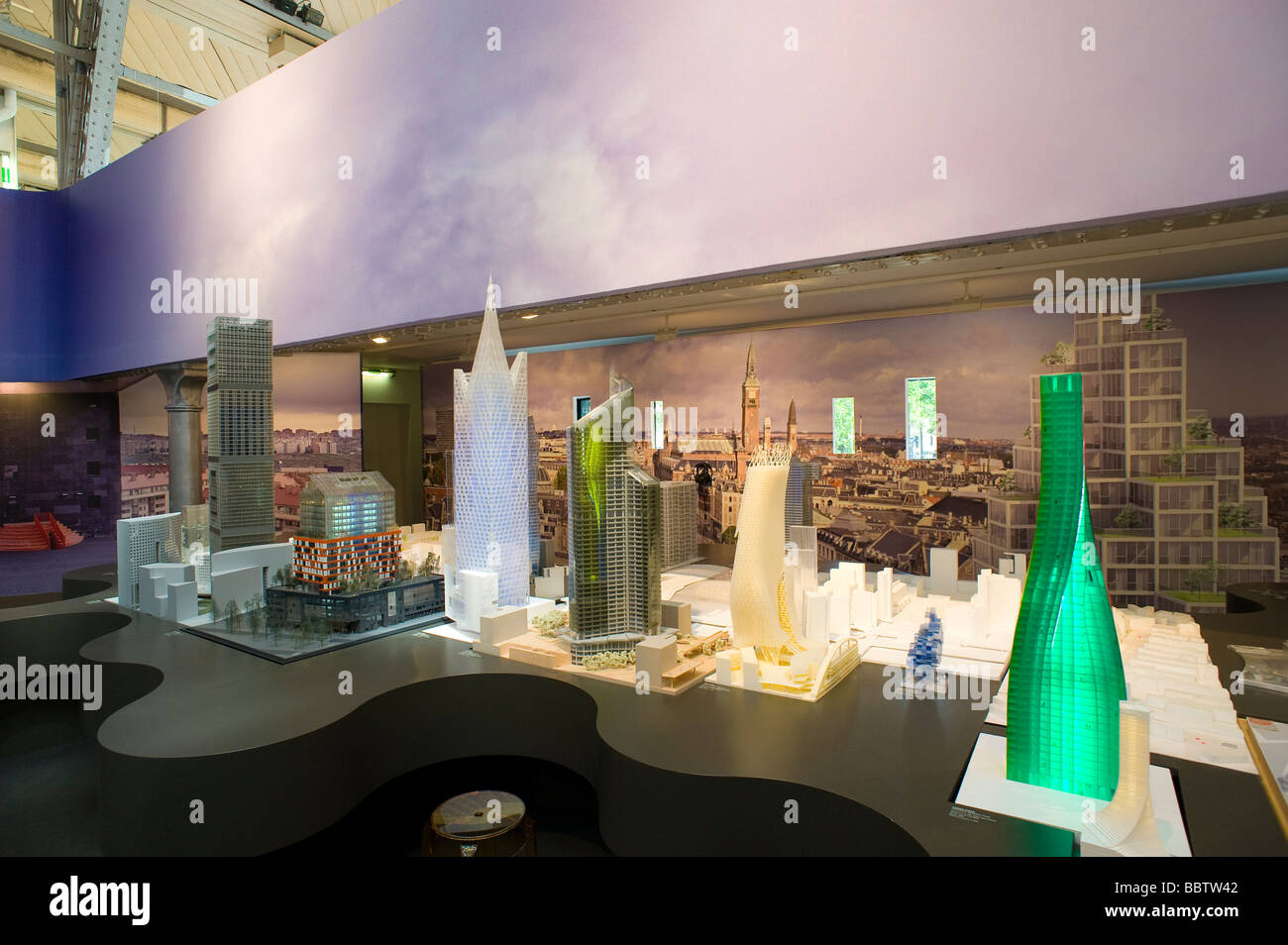 Paris Architekturausstellung Paris Exhibition of modern Architecture - Stock Image