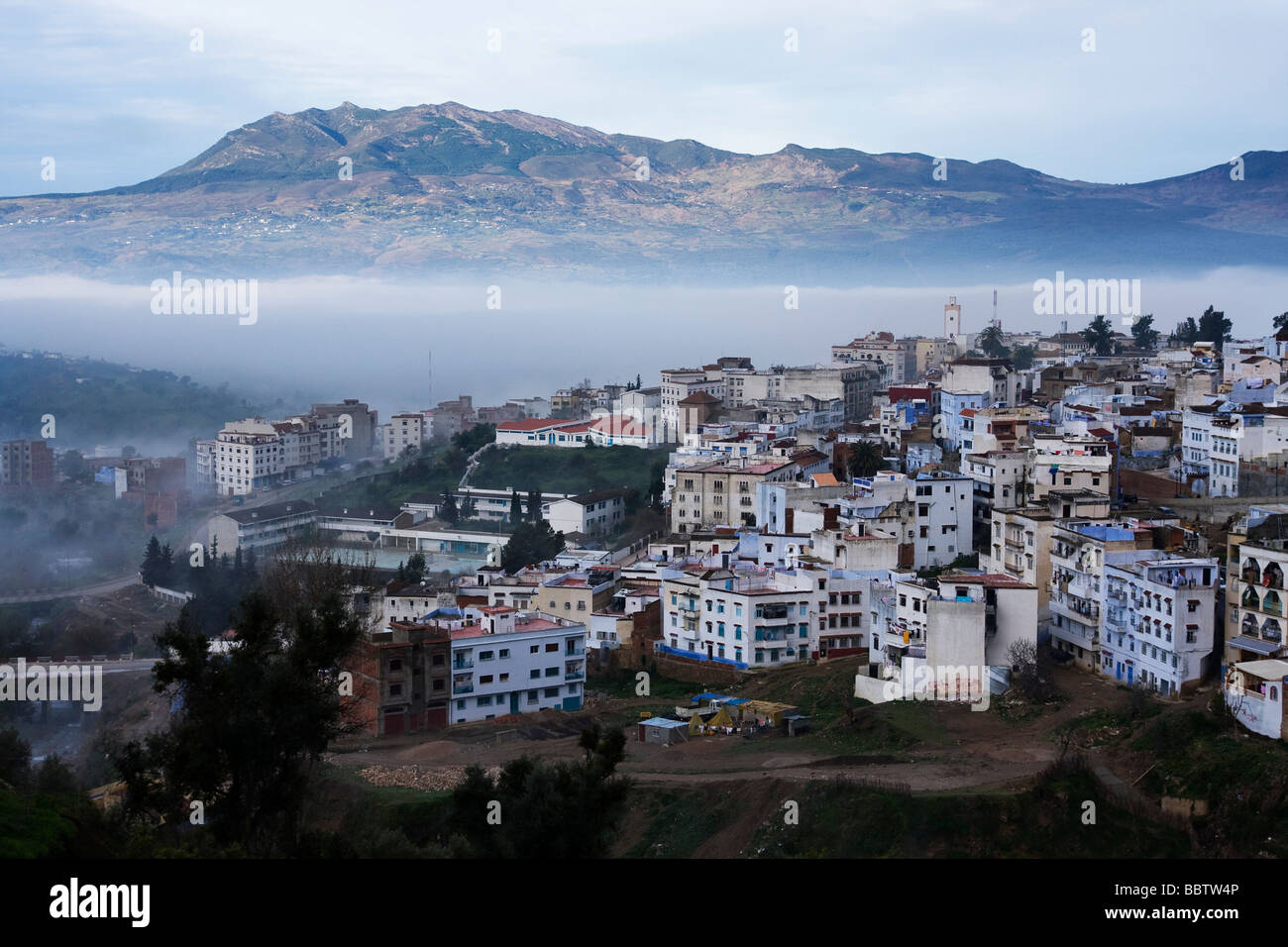 View Over Chefchaouen, Morocco Stock Photo