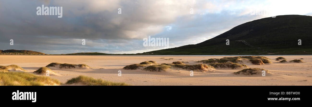 Traigh Scarista beach, Isle of Harris, Outer Hebrides, Scotland, panoramic - Stock Image