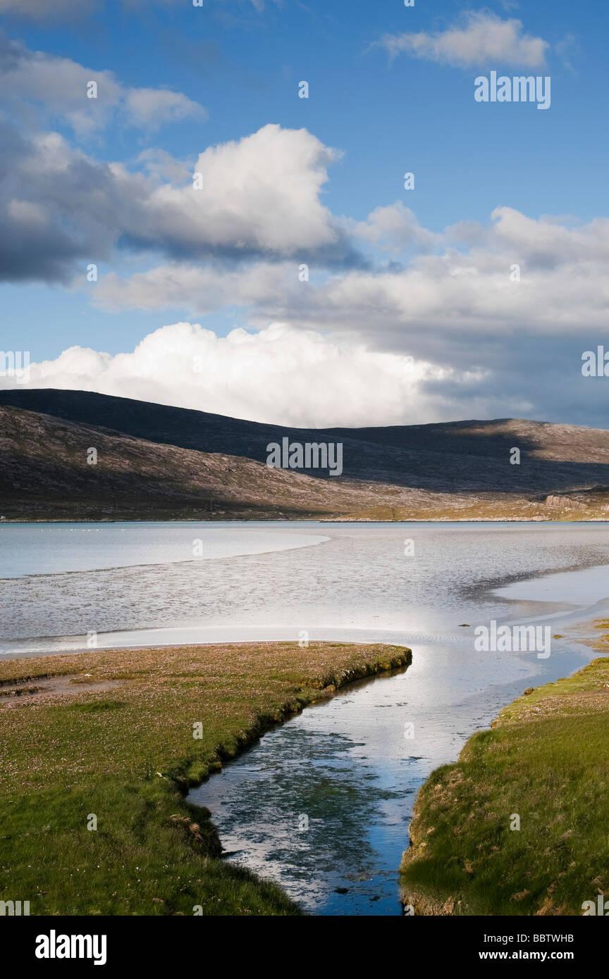 Luskentyre estuary, Isle of Harris, Outer Hebrides, Scotland Stock Photo