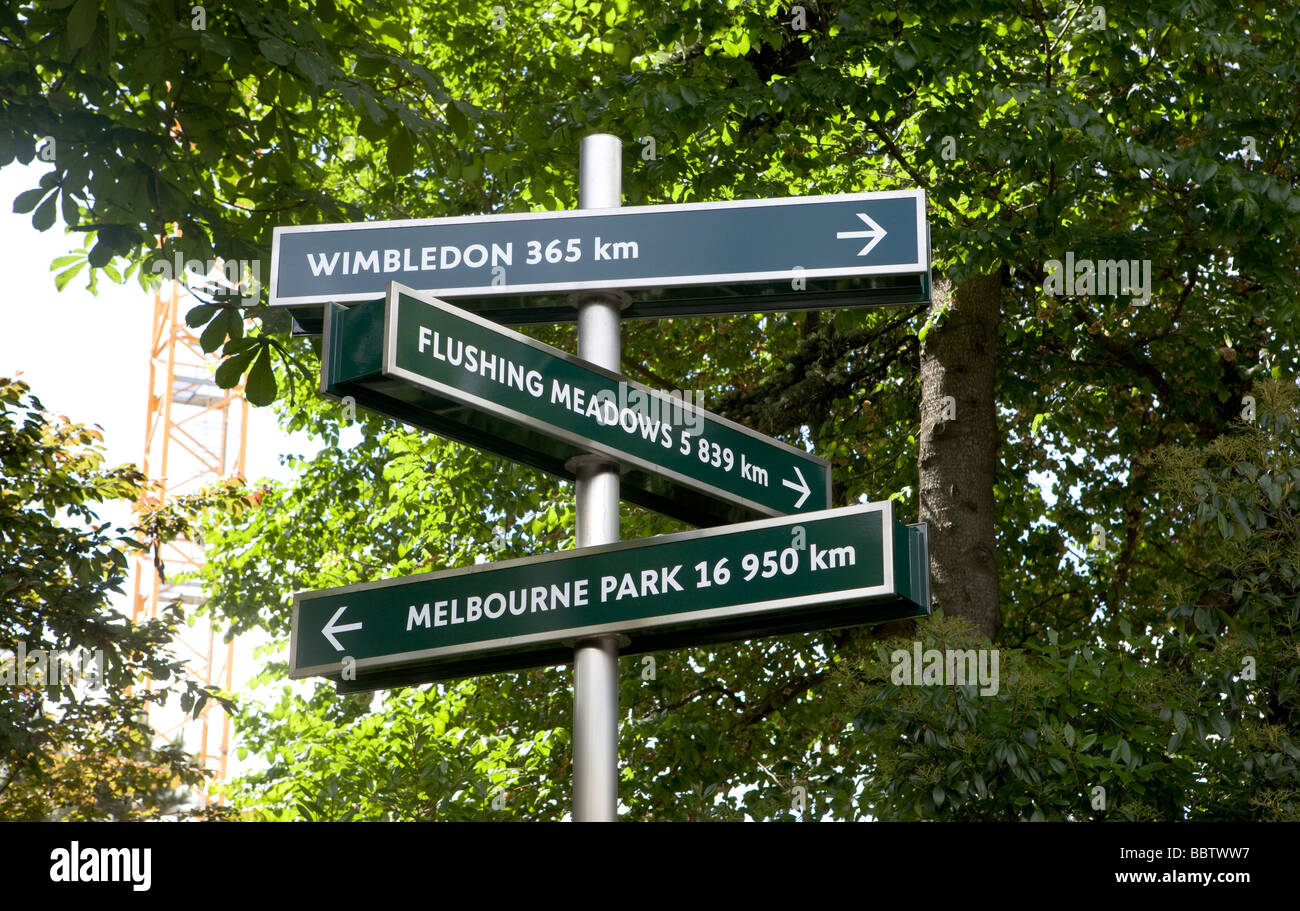 Roland Garros, Index of distances to other stadia, tournament is where conducted - Stock Image