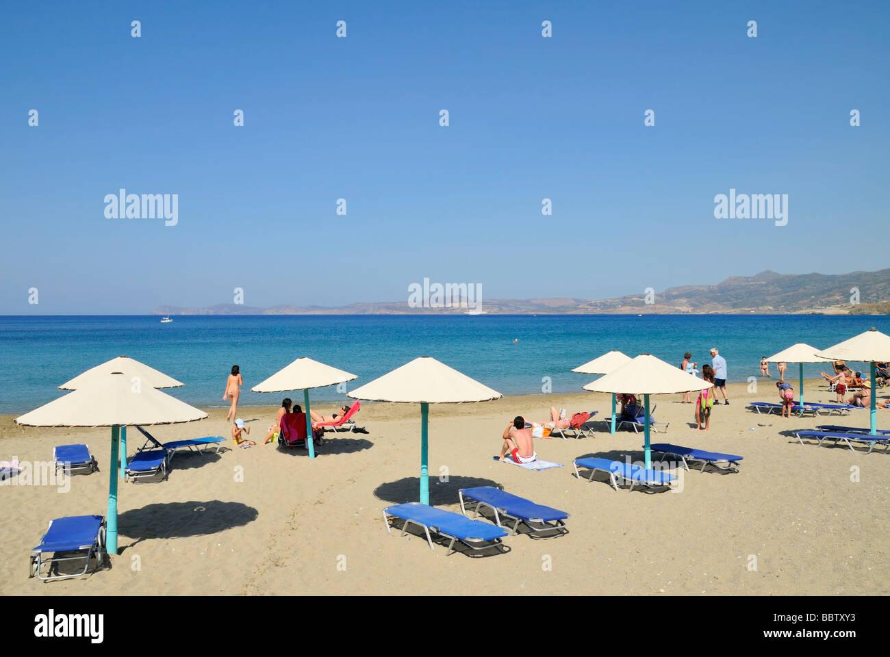 Sitia (Siteia) beach, Crete, Greece, Europe Stock Photo