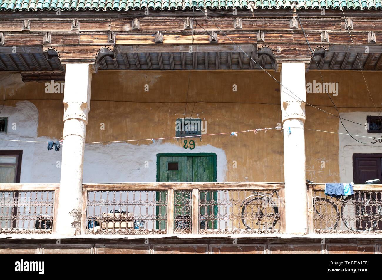 A scene off the Djemaa el Fna square in Marrakesh Morocco - Stock Image
