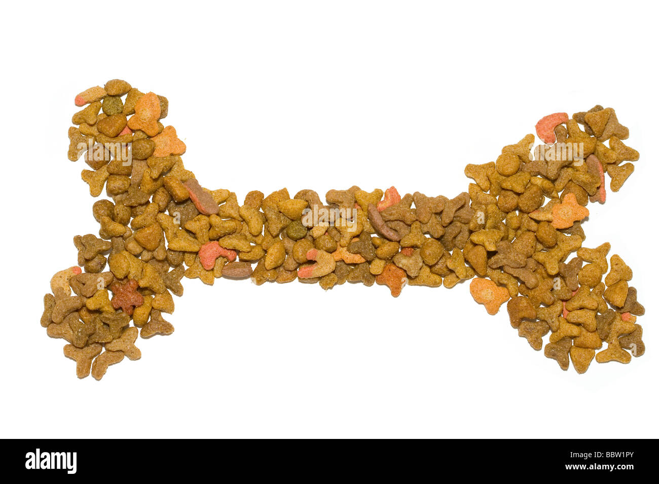 Bone for the Dog from the pet food - Stock Image