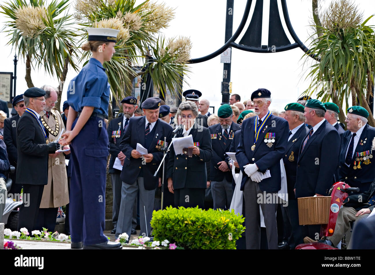 Veterans At A D Day 65th Commemoration Service In Clacton Essex UK