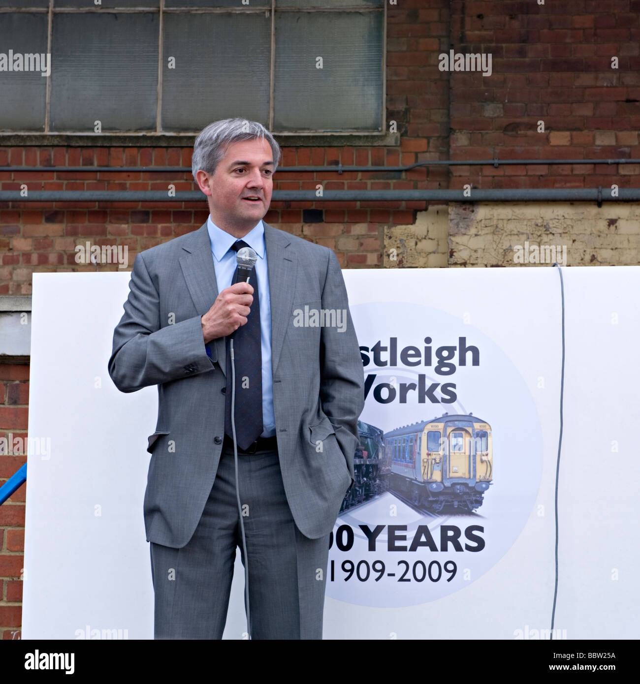 Chris Huhne, Liberal Democrat  home affairs spokesman and MP for Eastleigh, Hampshire opening the 'Eastleigh - Stock Image
