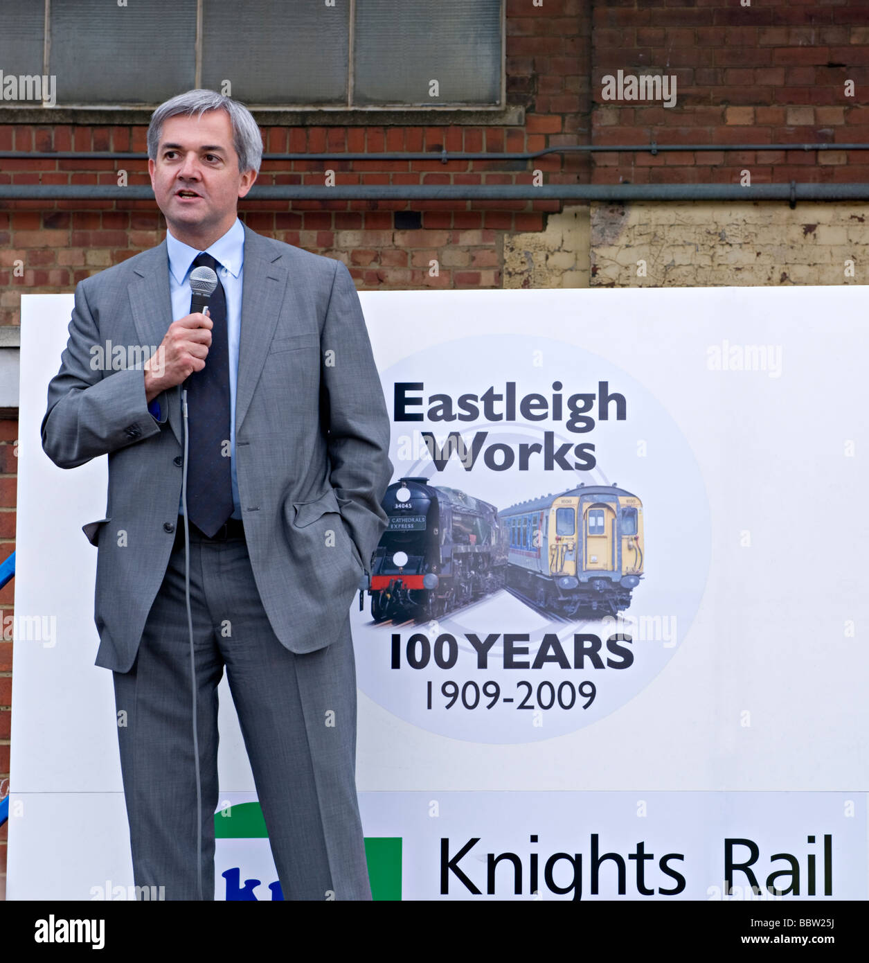 Chris Huhne, Liberal Democrat  home affairs spokesman,  MP for Eastleigh, (2009)  Hampshire opening the 'Eastleigh - Stock Image