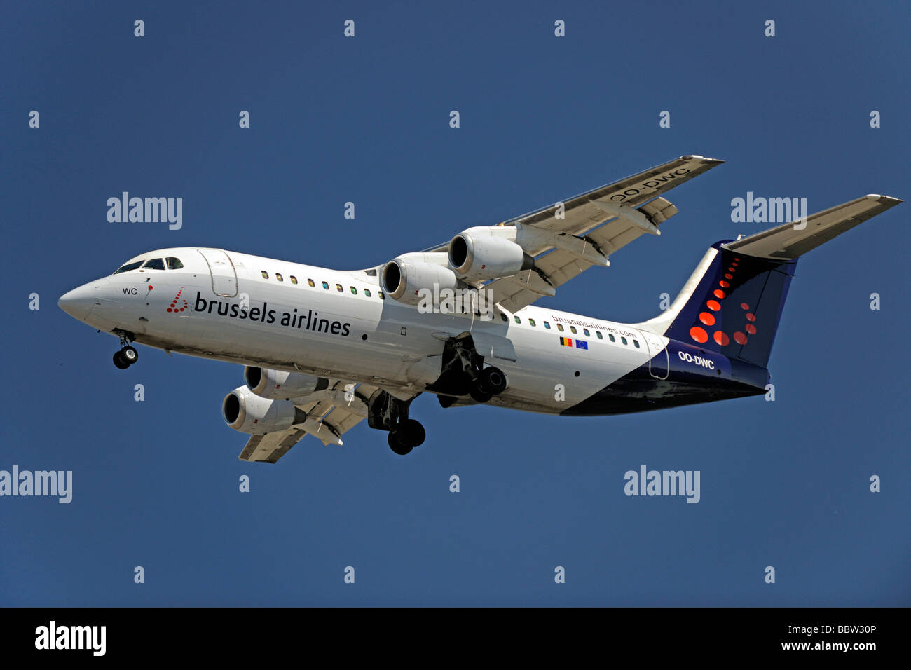 MD 11 of the airline Brussels Airlines - Stock Image