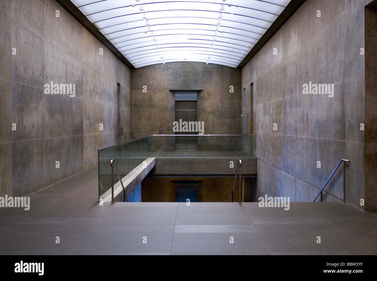 Interior Of Modern Art Museum Fort Worth Texas Stock Photo
