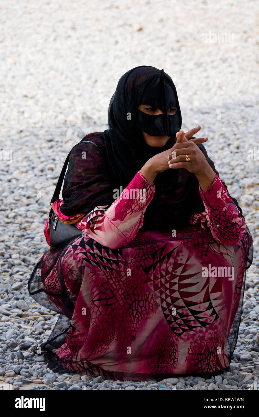Bedouin Omani Woman Nizwa Oman Stock Image