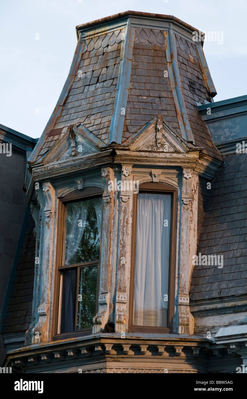 Rooftop of a typical house Montreal - Stock Image
