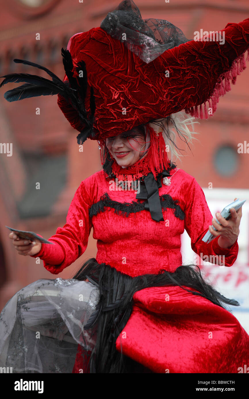Germany Berlin Carnival of Cultures woman in costume - Stock Image