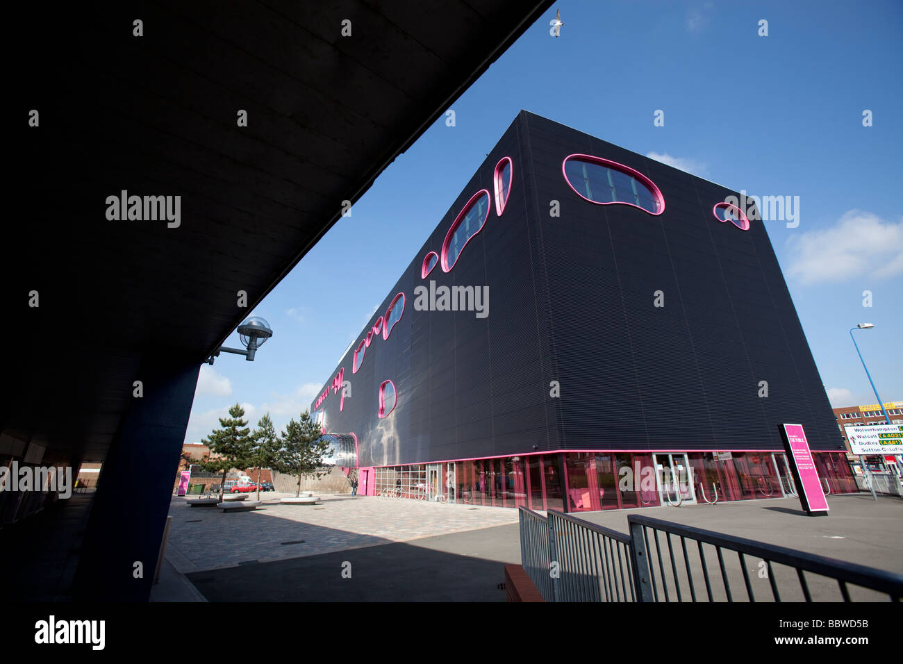 A view of The Public building designed by architect Will Alsop in West Bromwich West Midlands England UK - Stock Image