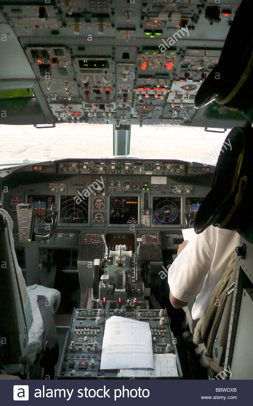 cockpit boeing737 - Stock Image