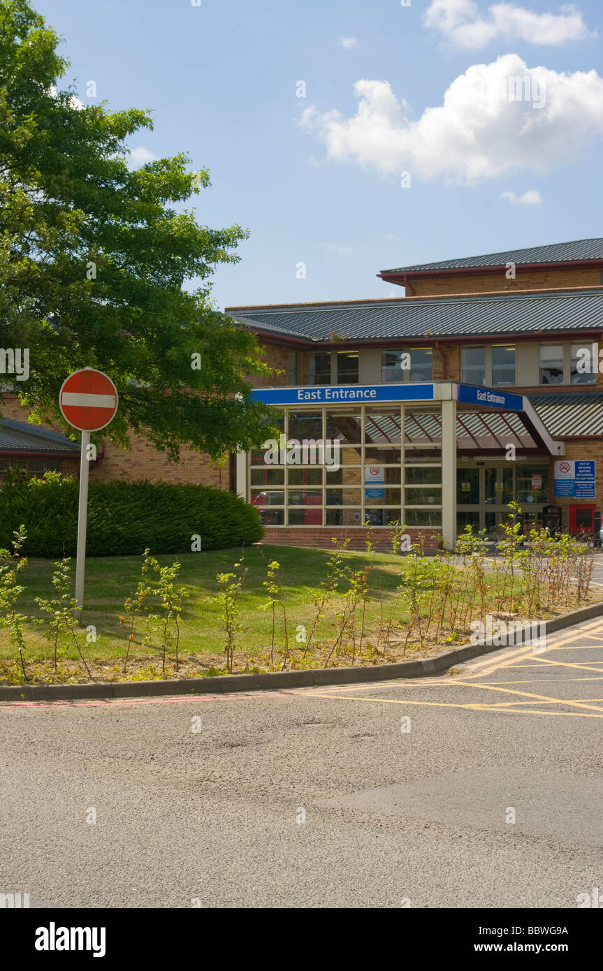 East Entrance Of East Surrey NHS Hospital Redhill England - Stock Image