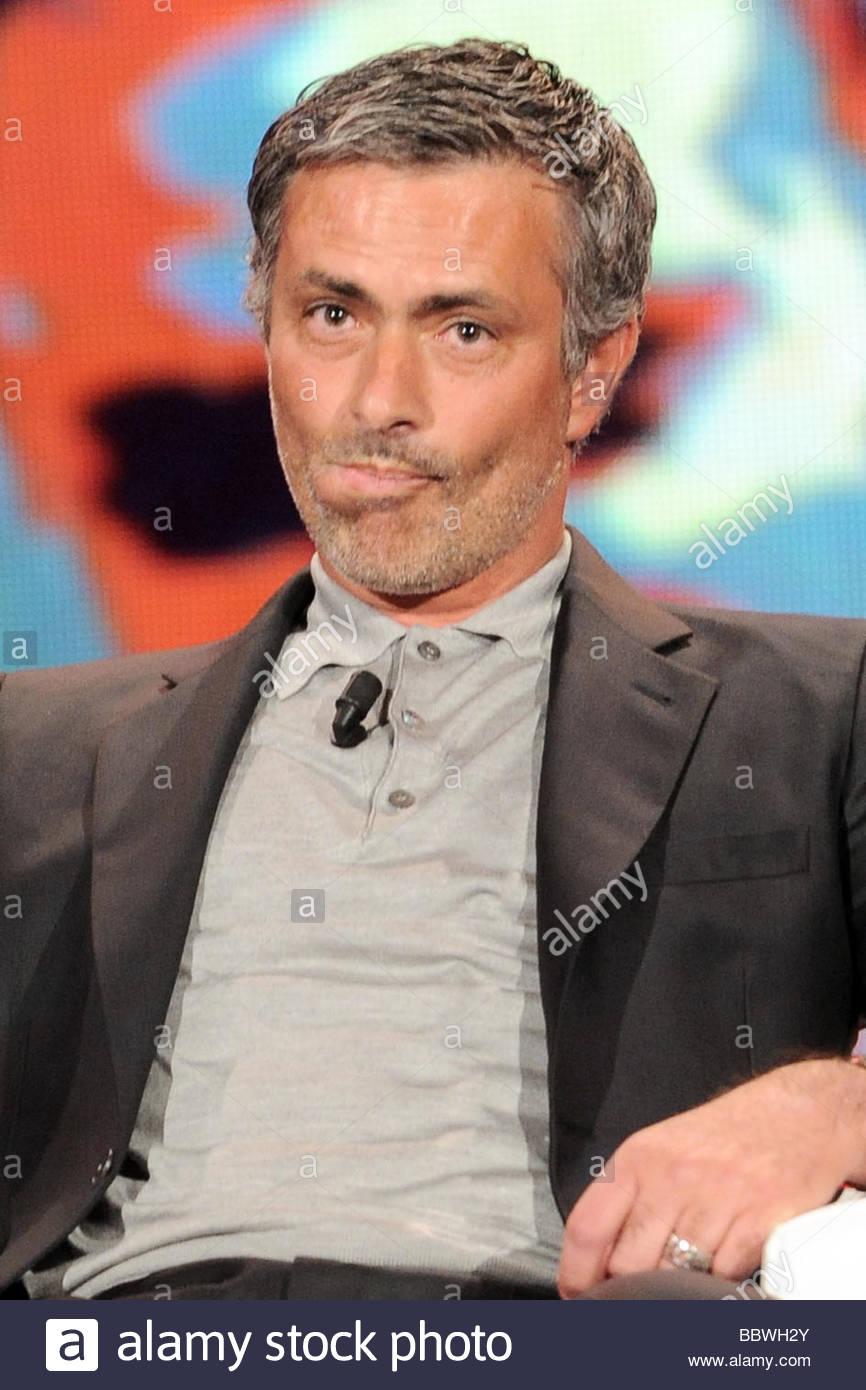 josè mourinho , milano 2009, chiambretti night tv show - Stock Image