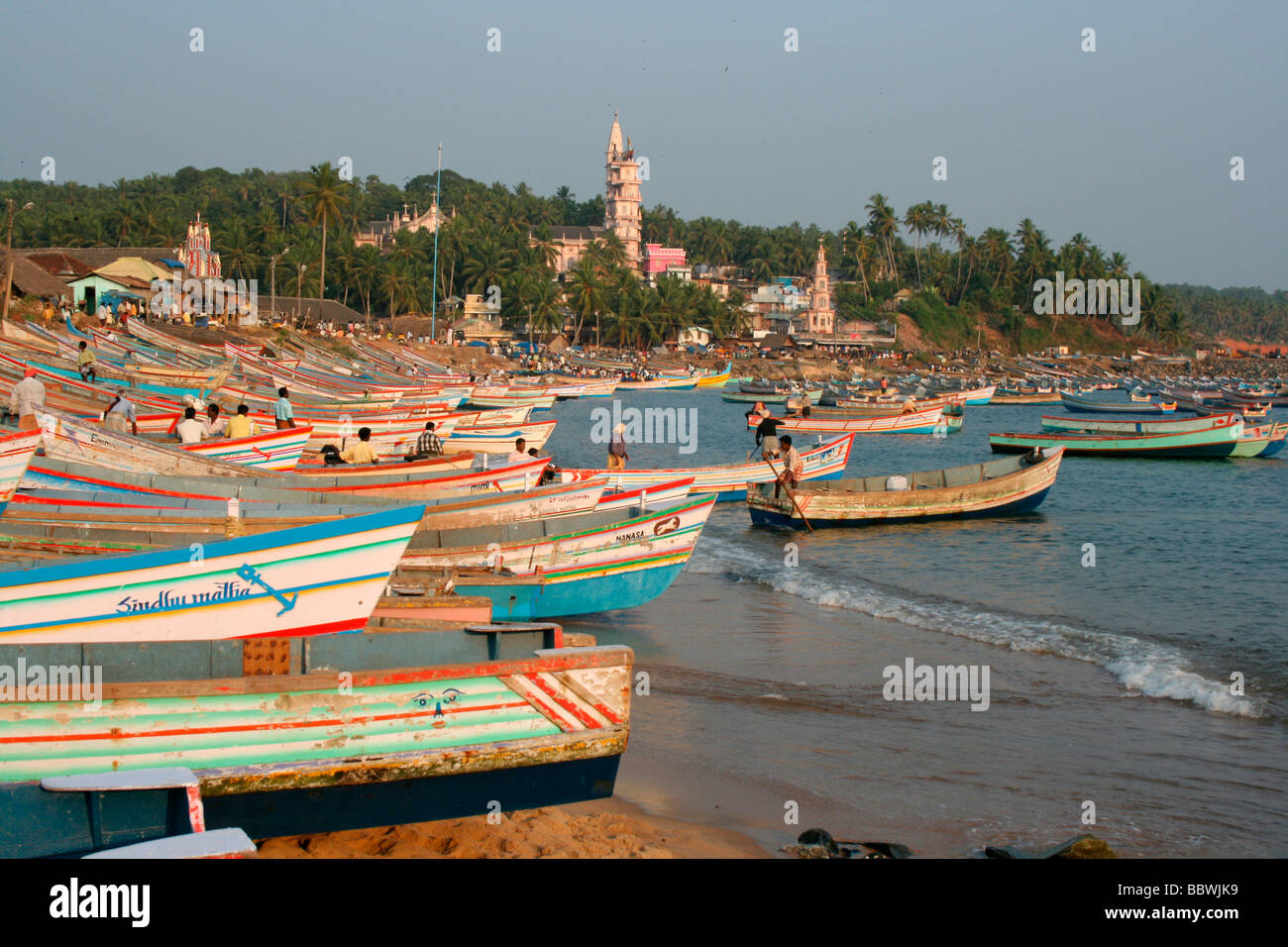 Vizhinjam Harbour - Stock Image