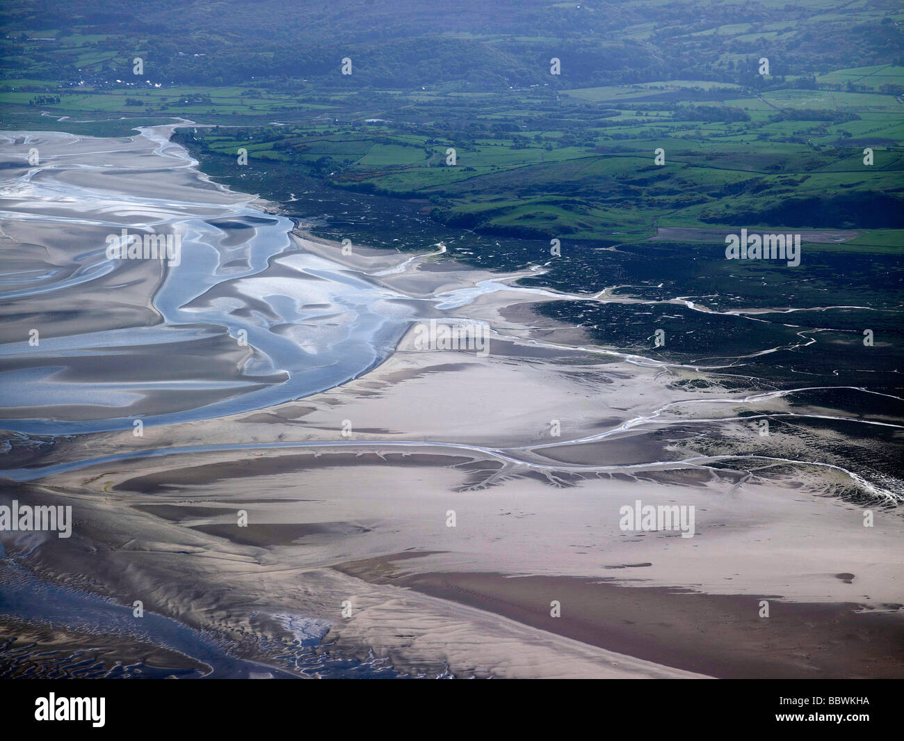 The Estuary at Pothmadoc, North Wales Coast - Stock Image