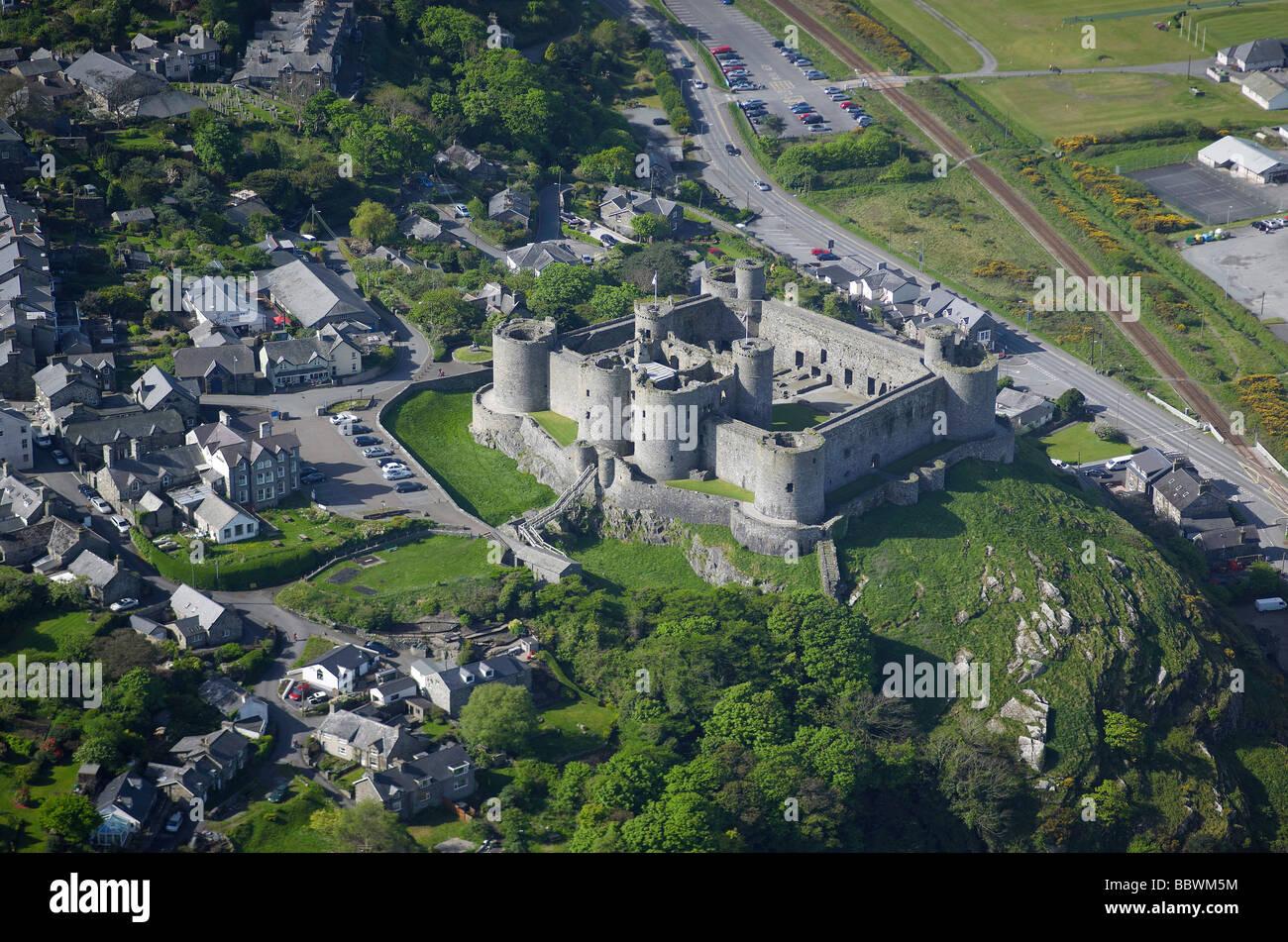Harlech Castle, North Wales, UK - Stock Image