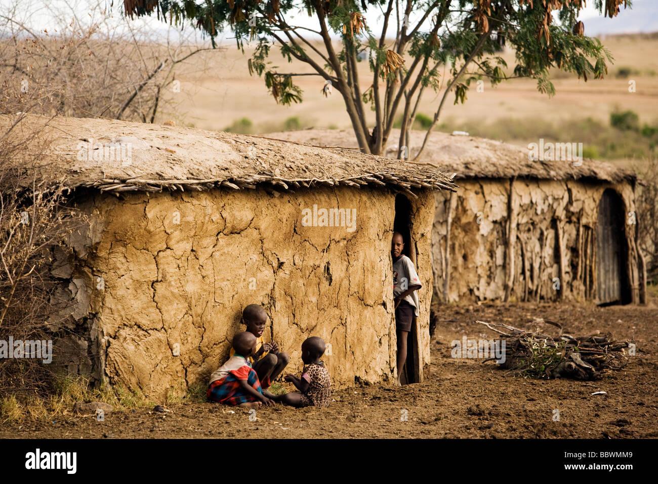 Masai Houses Stock Photos Amp Masai Houses Stock Images Alamy