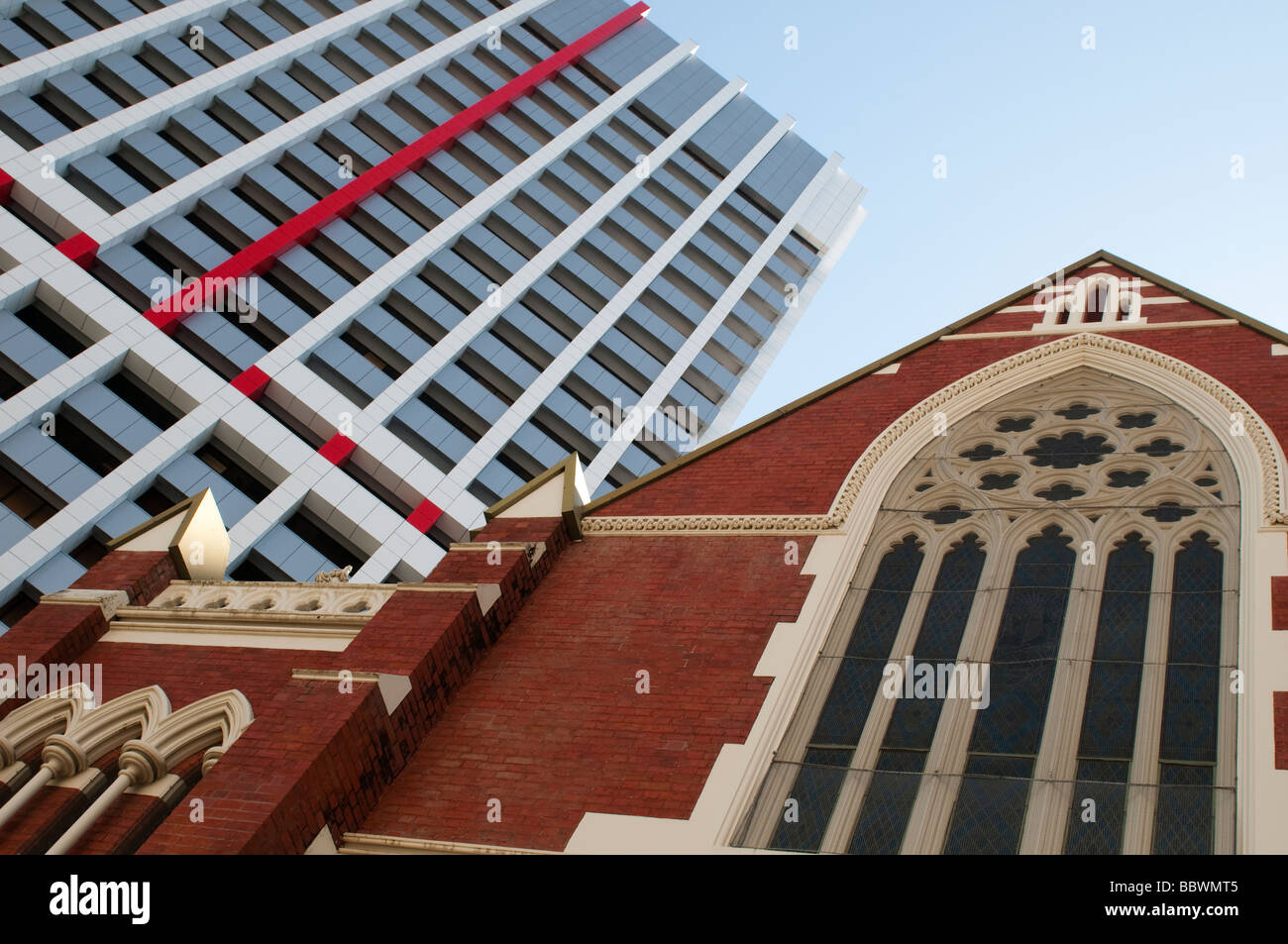 Albert Street Uniting Church in Brisbane Queensland Australia - Stock Image