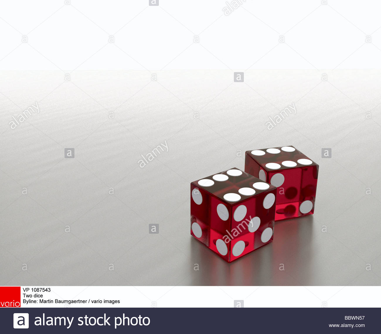 Two dice - Stock Image