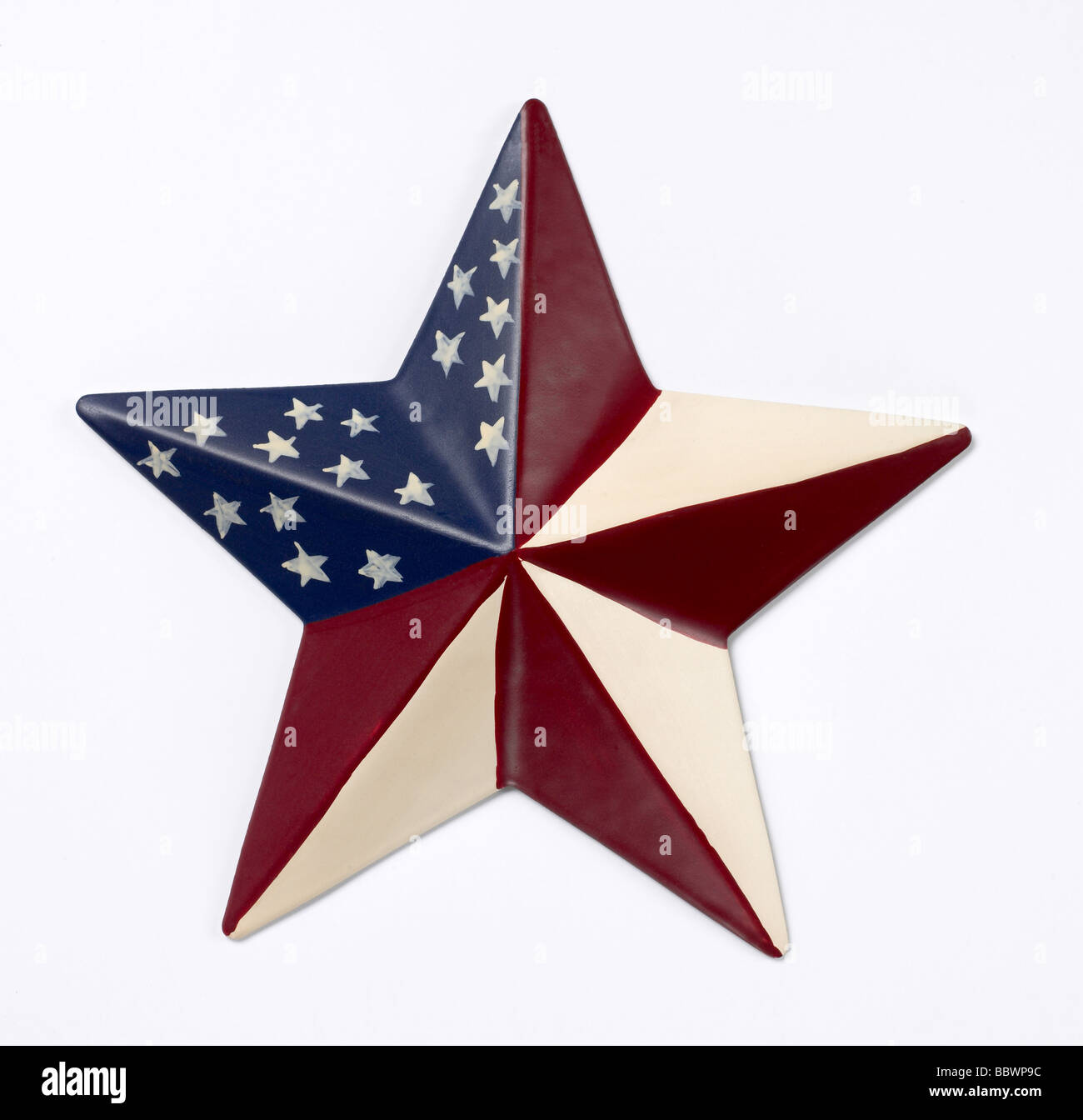 Red white blue star - Stock Image