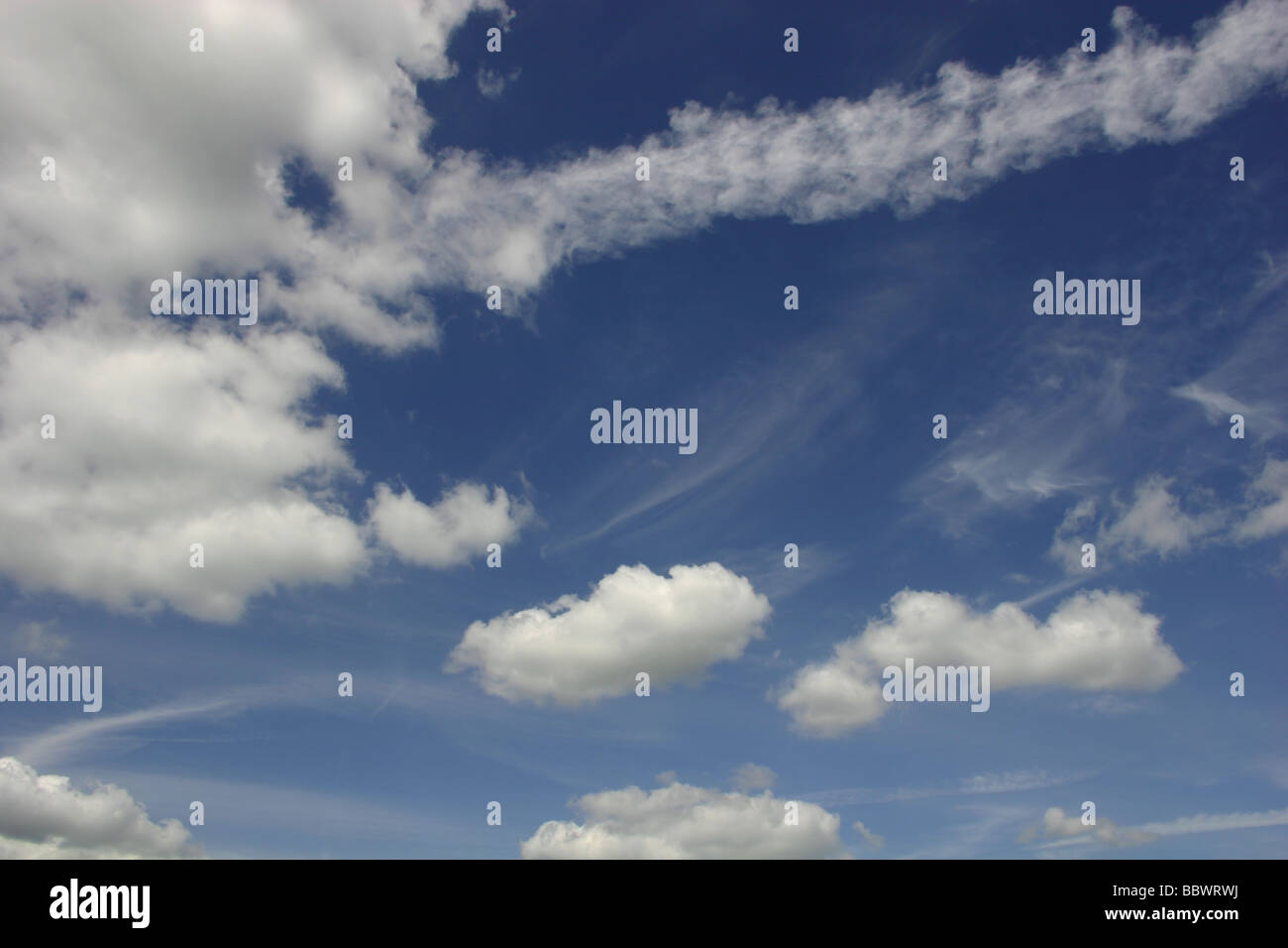 blue sky cloud formation - Stock Image