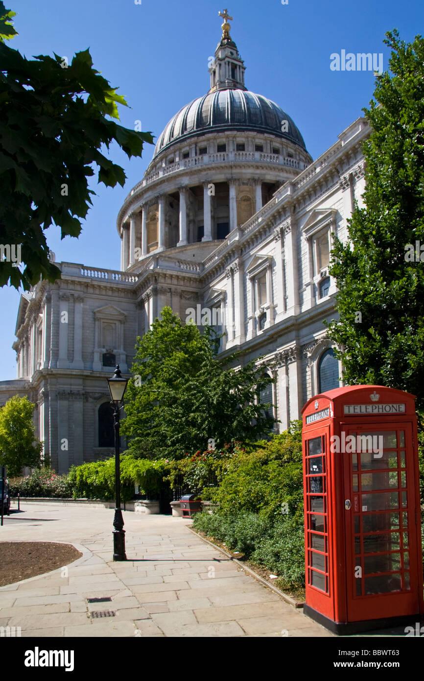 St Pauls Cathedral London UK - Stock Image