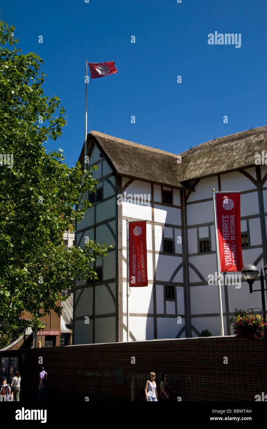 Globe Theatre South Bank London UK - Stock Image