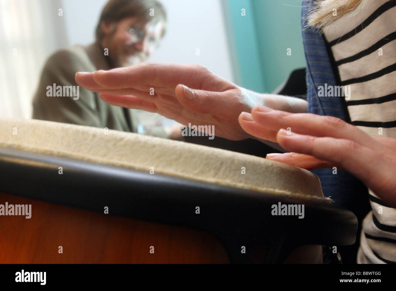 Musical therapy. This is a kind of therapy presribed to patients suffering from mental health issues. - Stock Image
