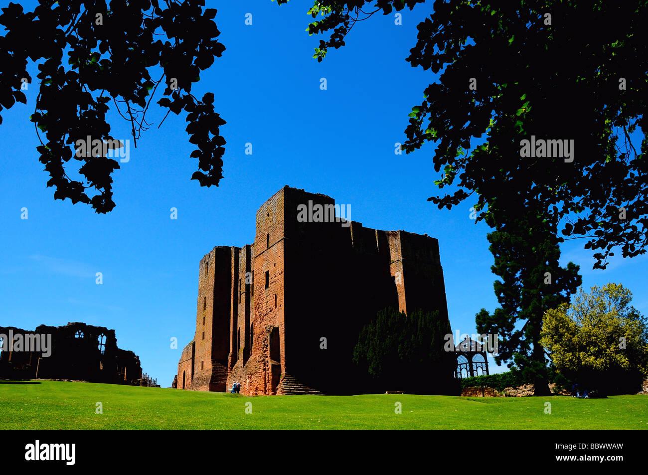 Kenilworth Castle, Warwickshire, UK - Stock Image
