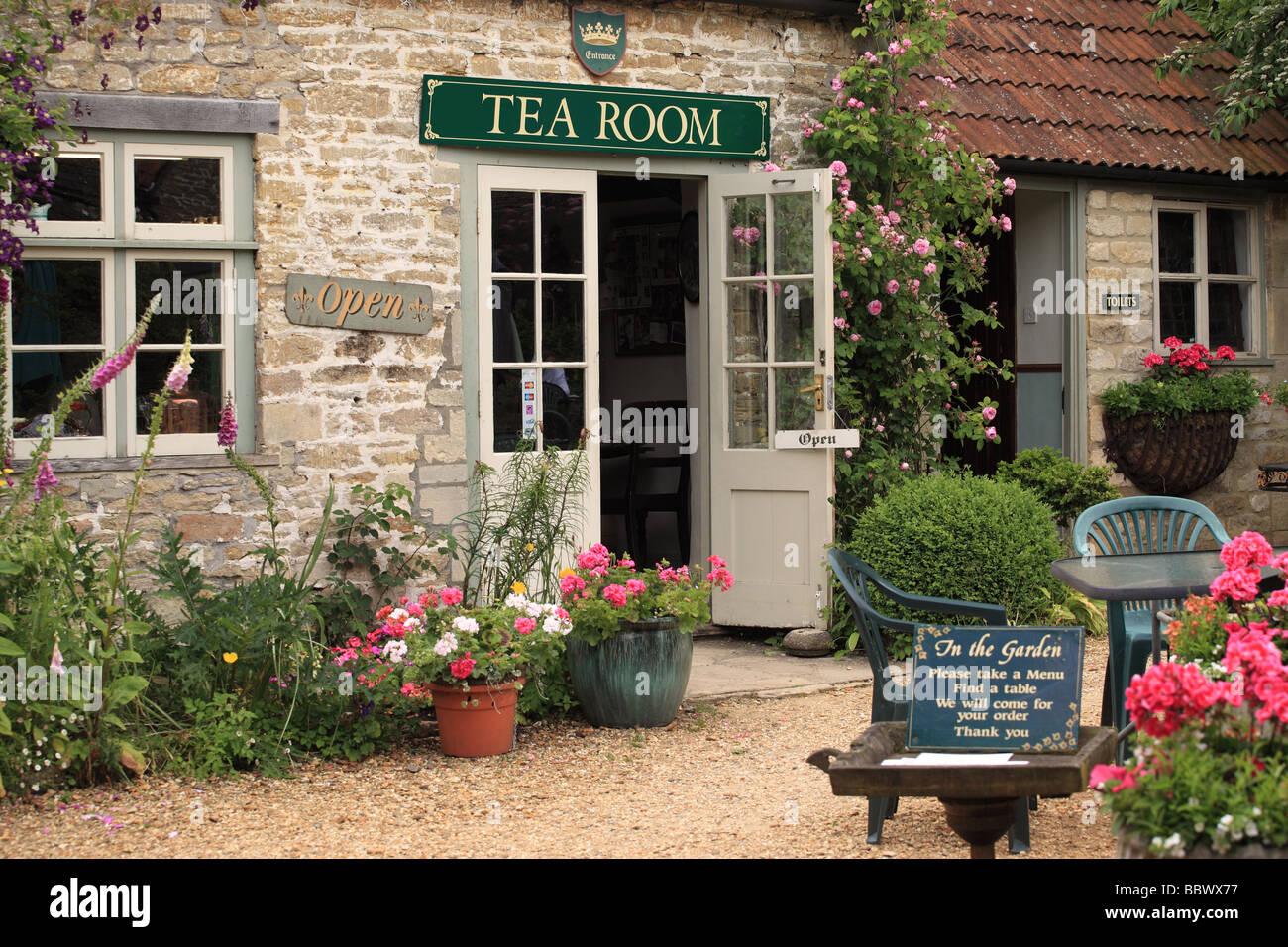 Tea Room in the Wiltshire village of Lacock, Wiltshire, England - Stock Image