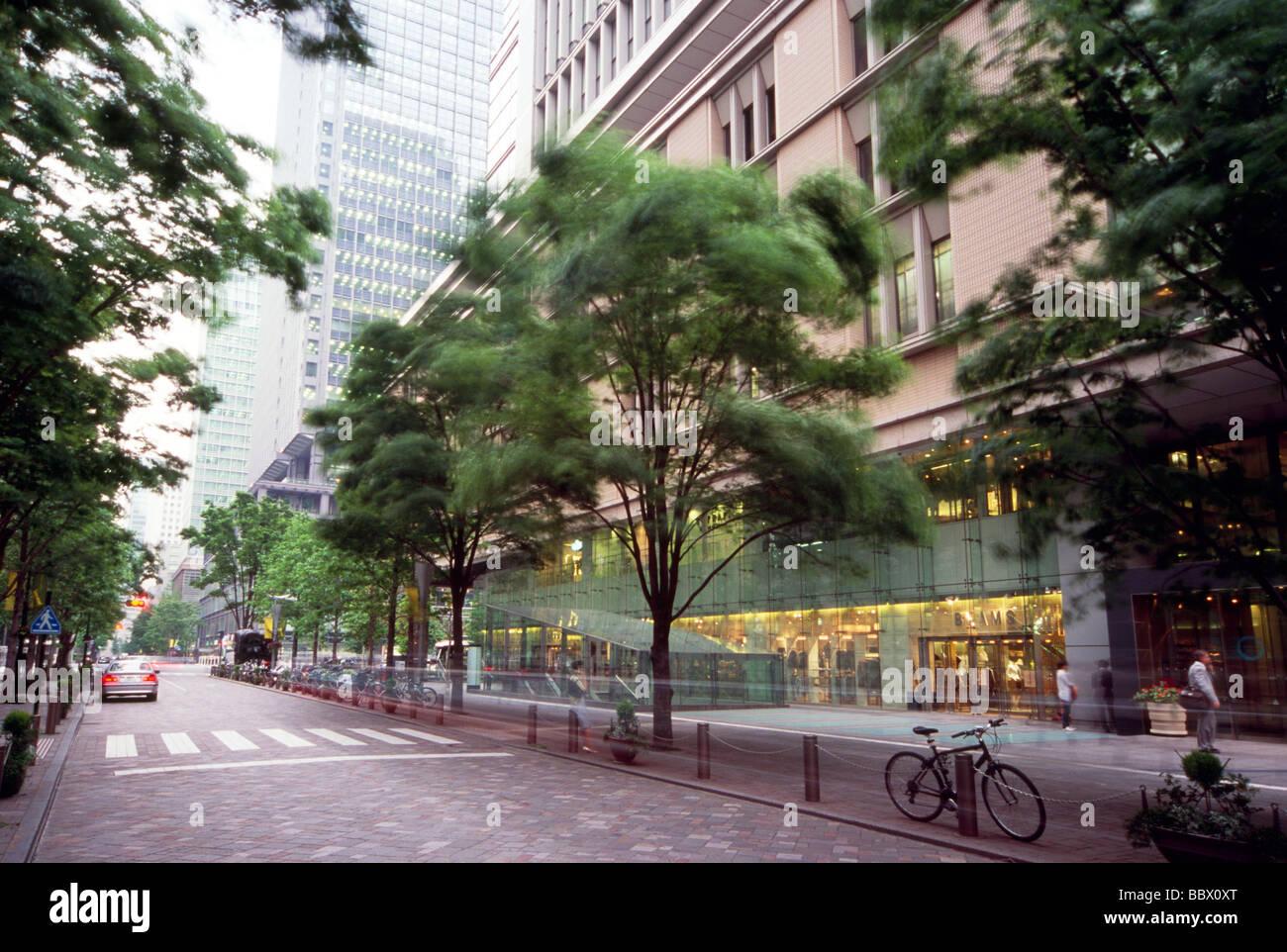 Cityscape of Marunouchi, Tokyo, Japan Stock Photo