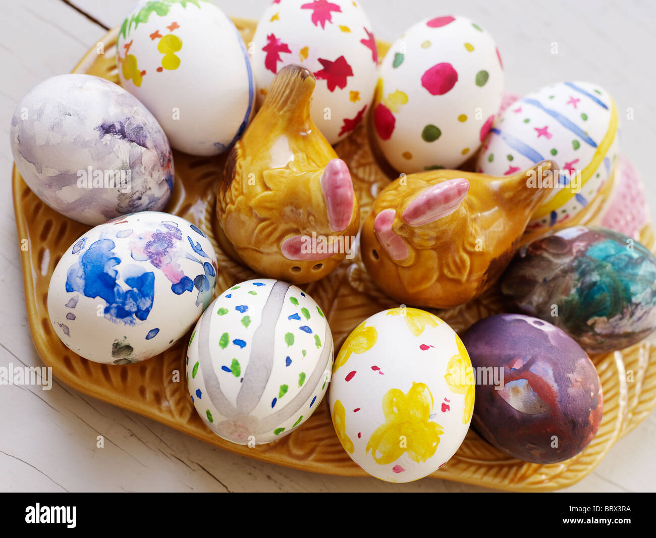 Painted eggs Sweden. - Stock Image