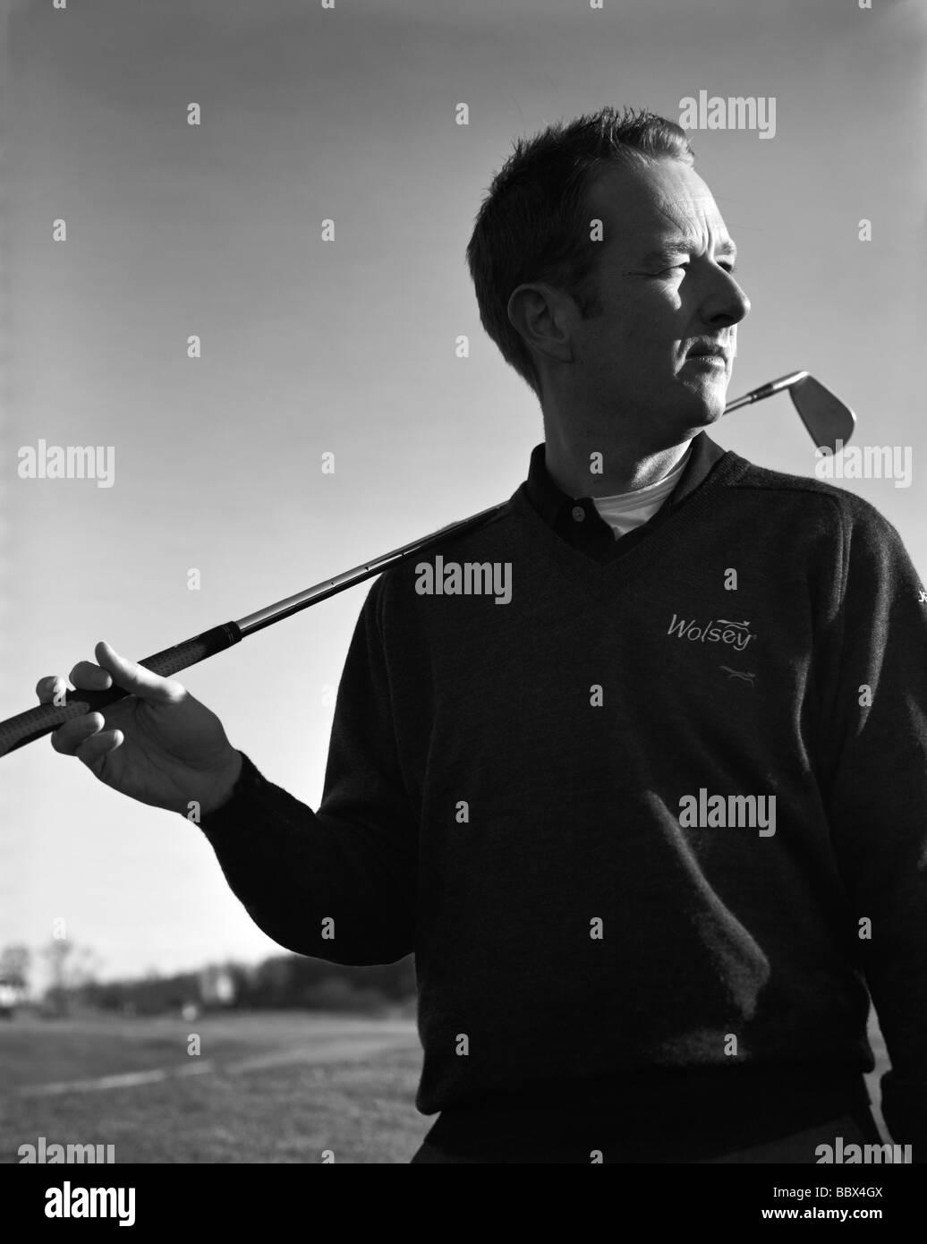 Portrait of a golfer Sweden. - Stock Image