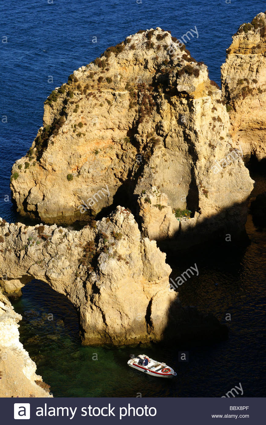 Algarve - Portugal - Coast of Lagos at Ponta da Piedade - Stock Image