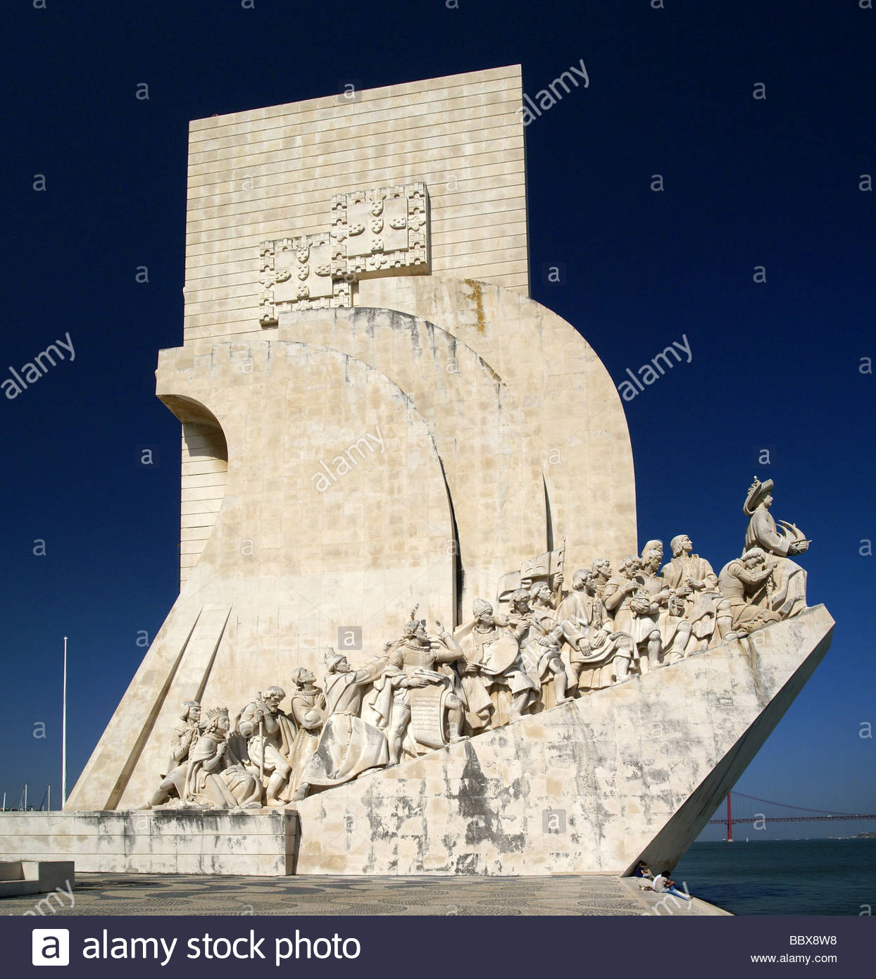 Padrao dos Descobrimentos - Lisboa | Monument to the Discoveries in the Belém parish of Lisbon - Portugal - Stock Image