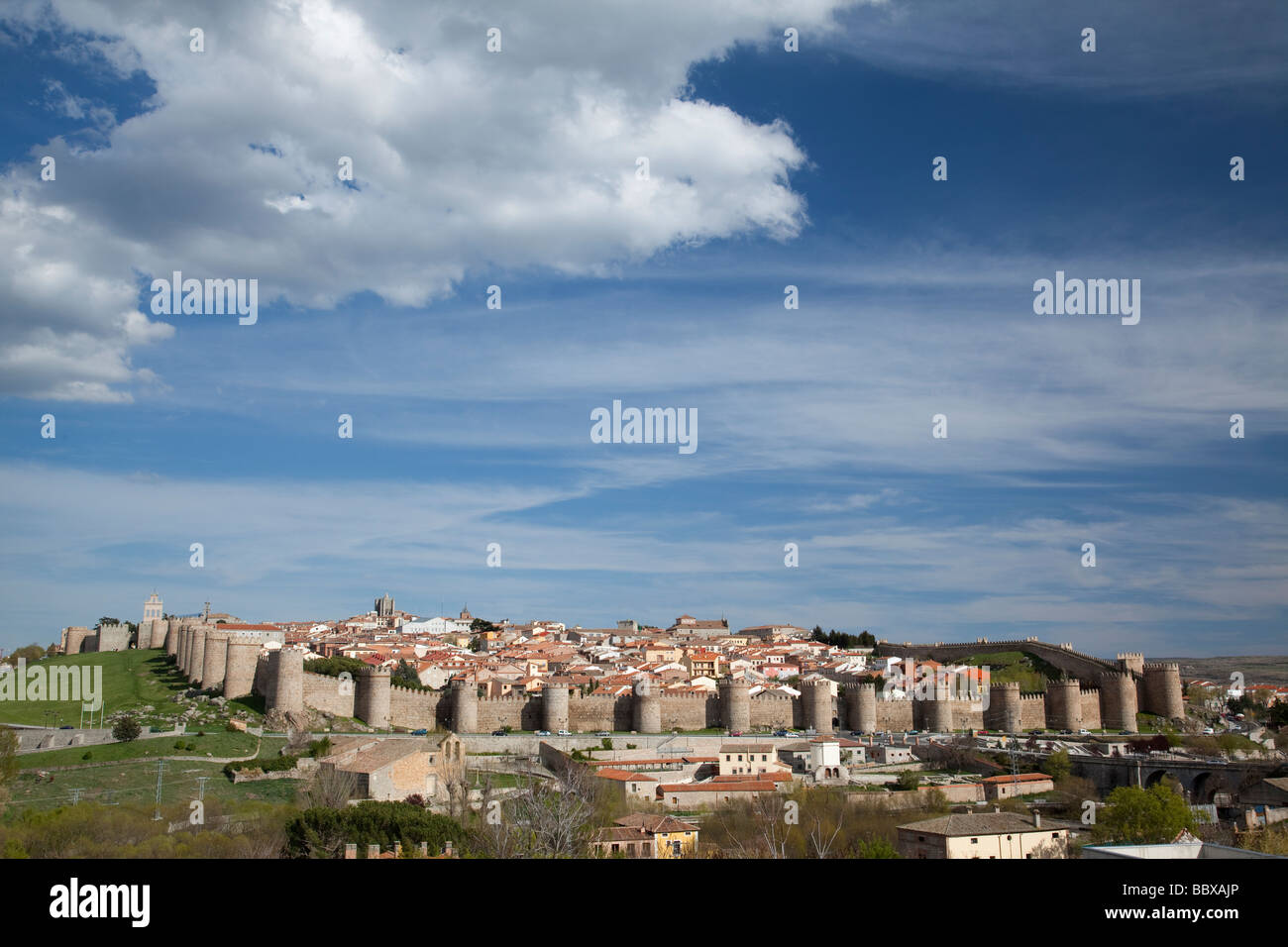 Walled city of Avila de los Caballeros Spain - Stock Image